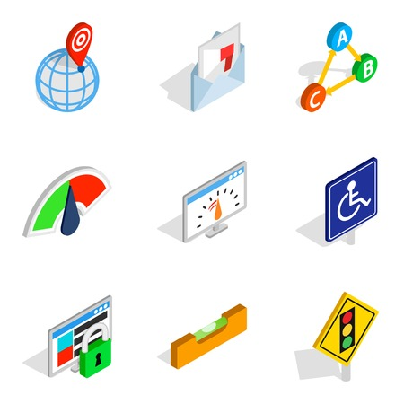 Decision icons set. Isometric set of decision vector icons for web isolated on white background