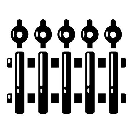 Hek metalen pictogram. Eenvoudige illustratie van het vectorpictogram van het omheiningsmetaal voor Web.