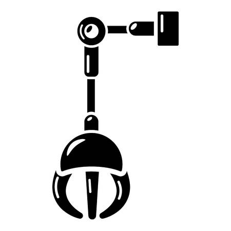 Simple illustration of mechanical grabber vector icon for web.