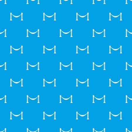 Barrier pattern seamless blue