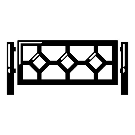 Fence icon, simple black style Illustration