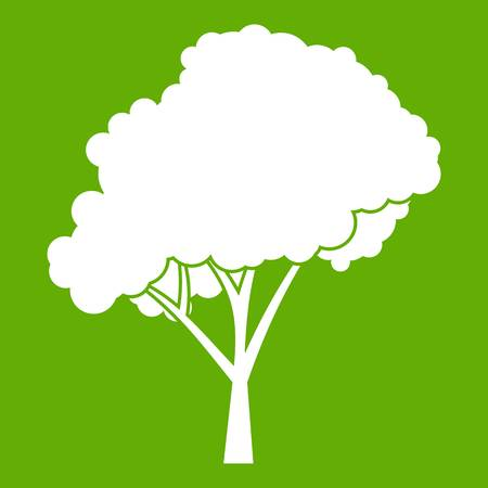 Tree with a rounded crown icon green