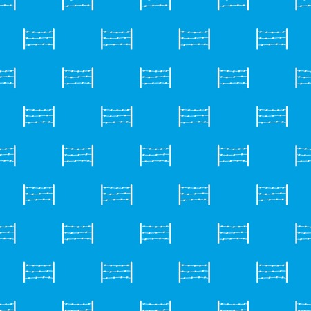 Restricted area seamless pattern on blue background illustration.