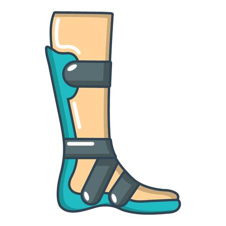 Leg in retainer icon. Cartoon illustration of leg in retainer vector icon for web.
