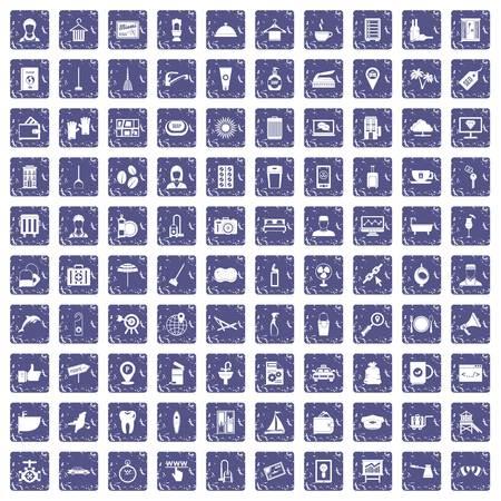 100 services icons set