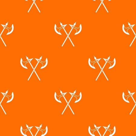 Crossed battle axes pattern seamless