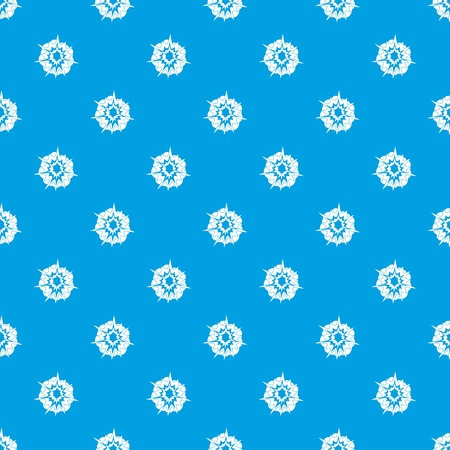 Fire explosion pattern repeat seamless in blue color for any design. Vector geometric illustration