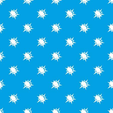 Powerful explosion pattern repeat seamless in blue color for any design. Vector geometric illustration 向量圖像