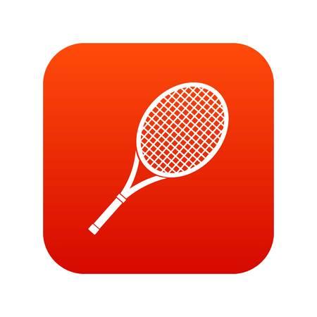 Tennis racket icon digital red