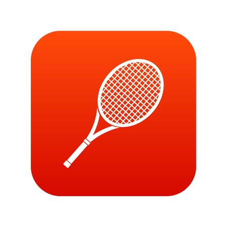Tennis racket icon digital red
