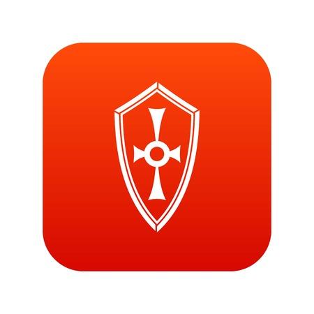 Shield icon digital red