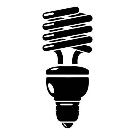 Light bulb icon, simple black style Illustration