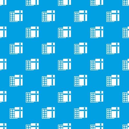 Box with chocolates seamless pattern on blue background illustration.  イラスト・ベクター素材