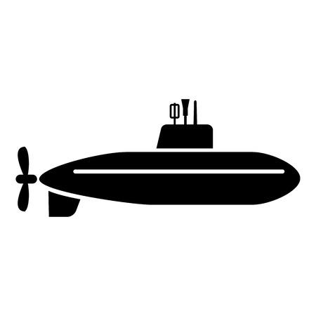 Large submarine icon, simple style.