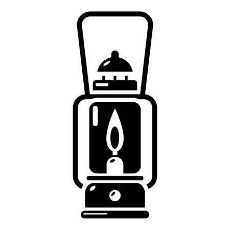 Gas lamp icon, simple black style. Illustration