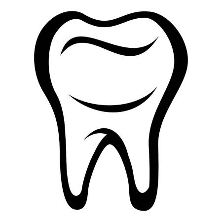 Tooth icon, simple black style Illustration