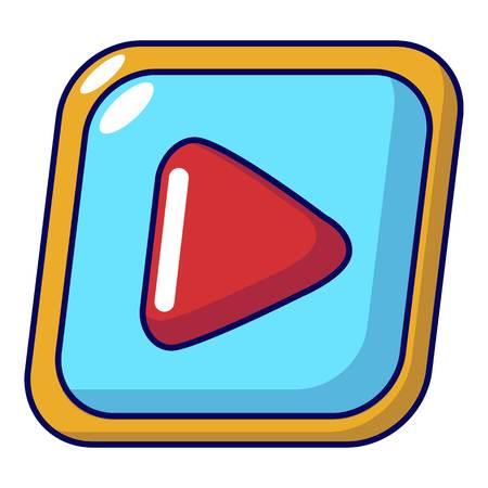 Video icon, cartoon style