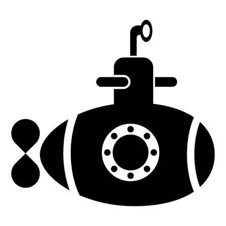 Bathyscaphe with hatch icon. Simple illustration of bathyscaphe with hatch icon for web. Ilustração