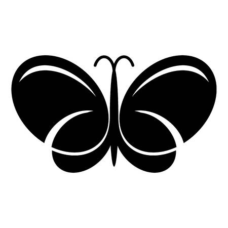 Butterfly icon, simple black style Çizim