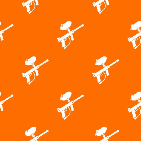 Paintball marker pattern repeat seamless in orange color for any design. Vector geometric illustration Illusztráció