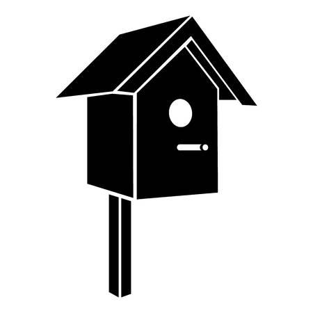 Vogelhuis pictogram. Eenvoudige illustratie van vogelhuis vectorpictogram voor Web