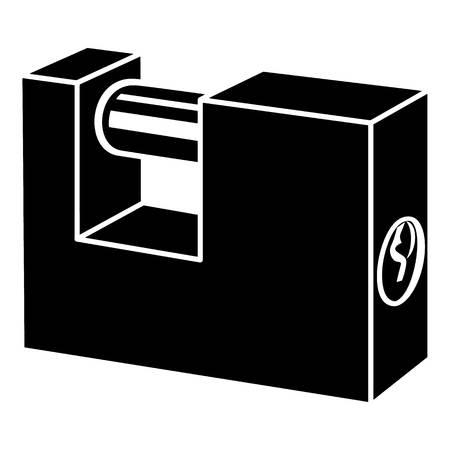 Padlock icon, simple style illustration on white background.