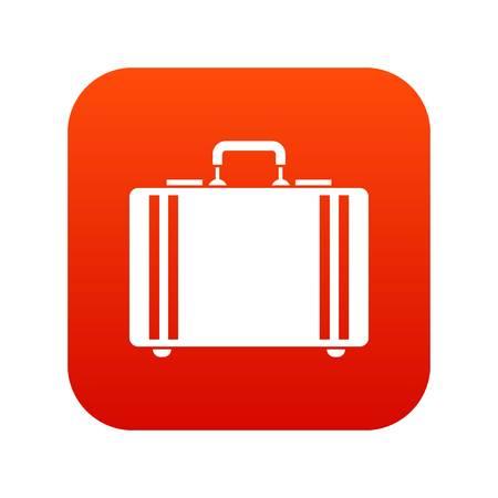 Diplomat icon digital red illustration on white background.