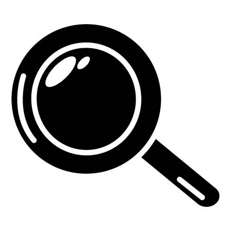 Magnifier icon. Simple illustration of magnifier vector icon for web