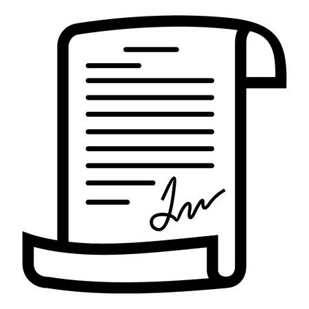 Agreement icon. Simple illustration of agreement vector icon for web.