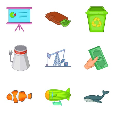 Destroy the nature icons set, cartoon style
