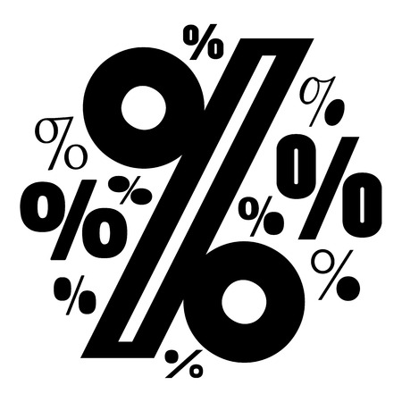 Percentage icon. Simple illustration of percentage vector icon for web.