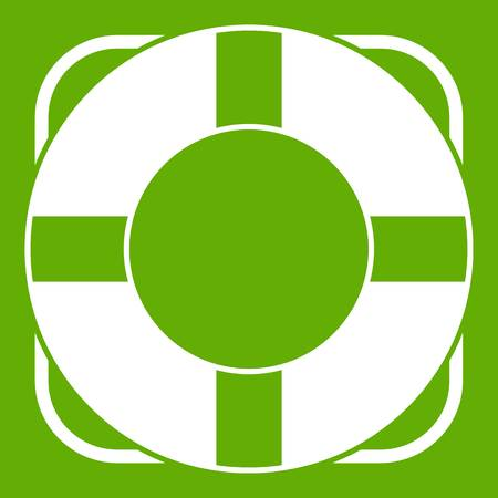 Lifeline green icon. Illustration