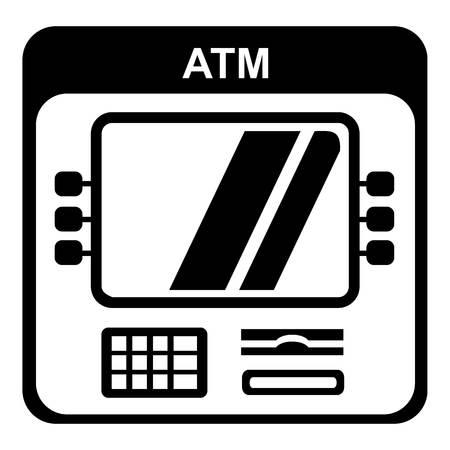Computer icon, simple style. Illustration