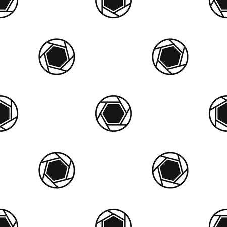 Close objective pattern seamless black 向量圖像