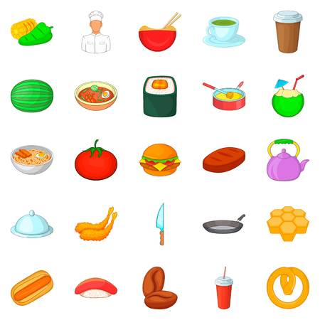 Sup icons set. Cartoon set of 25 sup vector icons for web isolated on white background Illustration