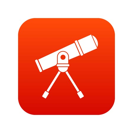 Space telescope icon digital red for any design isolated on white vector illustration