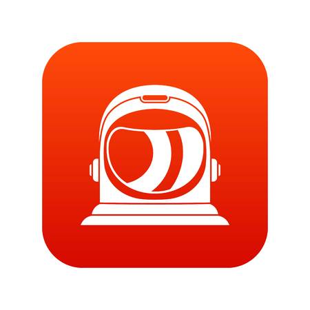 Space helmet icon digital red for any design vector illustration