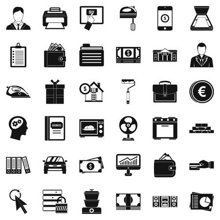Lending icons set Vettoriali