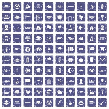 100 Different icons set