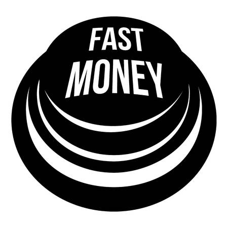 Fast money button icon. Simple illustration of fast money button vector icon for web. Stock Vector - 93055154