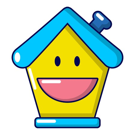 Insurance house icon. Cartoon illustration of insurance house vector icon for web Illustration