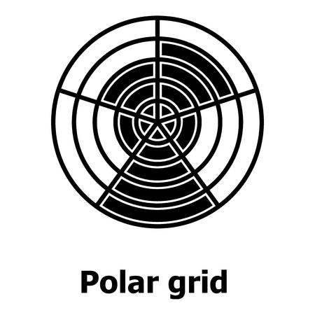 Polar grid icon  イラスト・ベクター素材