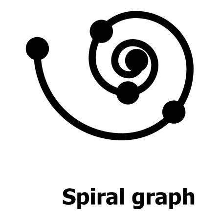 Spiral graph icon. Simple illustration of spiral graph vector icon for web.