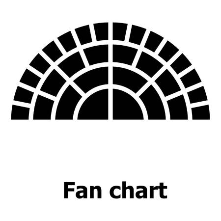 Fan chart icon. Simple illustration of fan chart vector icon for web.