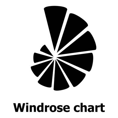 Simple illustration of windrose chart vector icon for web.  イラスト・ベクター素材