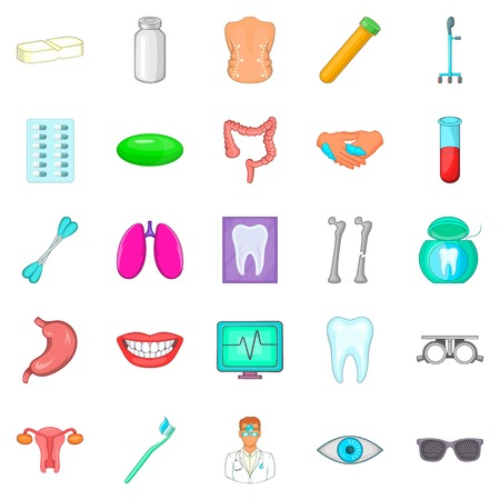 Malady icons set for web vector illustration