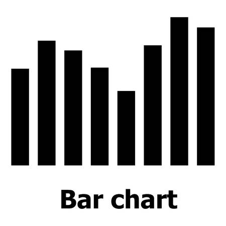 Bar chart icon, simple style. isolated on white