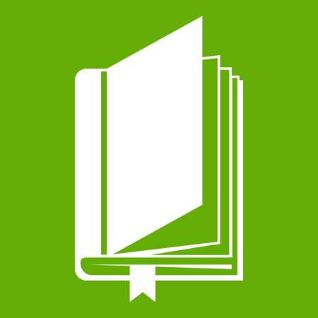 Book with bookmark icon green