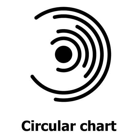 円形のチャートアイコン、シンプルなスタイル。  イラスト・ベクター素材