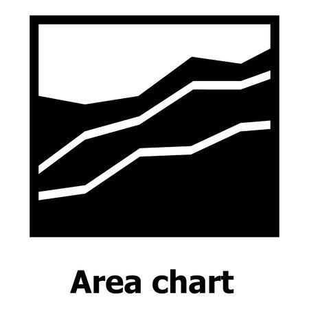 Icona del grafico ad area. Illustrazione semplice dell'icona di vettore del diagramma di area per il web. Archivio Fotografico - 93058453